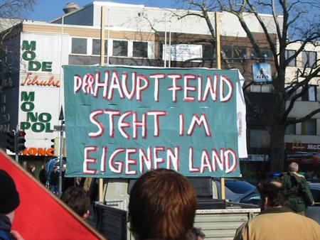 Koblenz:  Demonstration gegen den Irak-Krieg 2003